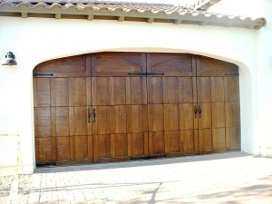 Steelhouse Gel Stained Garage Door at Shea Homes-Encantera