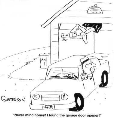 Garage Door Cartoon
