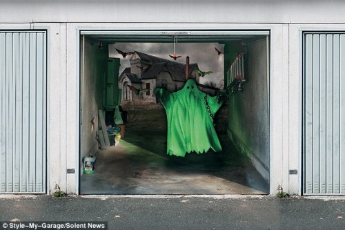 Mr Sassenbach's garage door covers, which are made from weather-resistant  tarpaulin and can be attached to doors with velcro. The 47-year-old artist  said ...